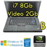 Workstation Lenovo W520 Core i7-2760QM 8Gb Ram 320Gb DVDRW 15.6' QUADRO 2000M 2Gb Windows 10 Pro [GRADE B]