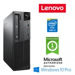PC Lenovo Thinkcentre M81p Core i5-2400 3.1GHz 4Gb Ram 250Gb DVD-RW Windows 10 Professional SFF
