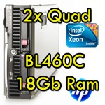 Lama Server Blade HP BL460C (2) Xeon Quad Core E5440 2.83GHz 12Mb Cache 18Gb Ram 146Gb 459484-B21