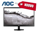 MONITOR AOC LCD LED 19.5 WIDE E2070SWN 5ms 0.27 1600x900 600:1 BLACK VGA Vesa NUOVO 1Y