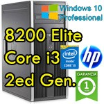 PC HP Compaq 8200 Elite Core i3-2100 3.1GHz 4Gb Ram 250Gb DVDRW Windows 10 Professional Tower