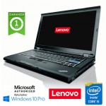 Notebook Lenovo Thinkpad T410 Core i5-560M 2.6GHz 8Gb 256Gb SSD 14' DVD-RW Windows 10 Professional