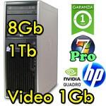 Workstation HP xw4600 Intel Core 2 Duo E8600 3.3GHz 8Gb Ram 1Tb DVD NVIDIA QUADRO FX-3800 1Gb Windows 7 Pro 1Y