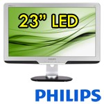 Monitor LCD LED 23 Pollici Philips Brilliance 235PL 1920x1080 VGA DVI Black Silver PIVOT