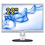Monitor PC LCD 22 Pollici Philips 220P Wide VGA DVI PIVOT Multimediale Nero/Argento
