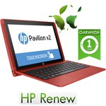 Notebook HP Pavilion x2 10-n107nl Atom Z8300 1.44GHz 2Gb 32Gb SSD 10.1' TouchScreen Windows 10 T9N88EA 1Y