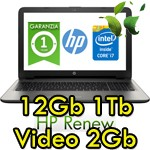Notebook HP 15-ac625nl Core i7-6500U 12Gb 1Tb 15.6' HD BV LED AMD Radeon R5 M330 2GB Windows 10 HOME