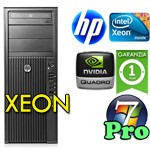 Workstation HP Z210 Xeon E3-1225 3.1GHz 8Gb 500Gb DVDRW NVIDIA QUADRO 2000 Windows 10 Professional TOWER