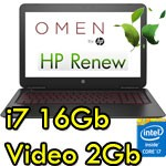Notebook HP OMEN 15-ax000nl Core i7-6700HQ 16Gb 1Tb+128Gb SSD 15.6' FHD Nvidia GeForce 965M 2G Windows 10 HOME