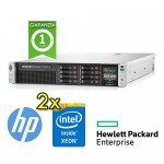 Server HP Proliant DL380p G8 (2) Xeon Hexa Core E5-2620 2.0 32Gb Ram 600Gb 2.5' (2) PSU Smart Array P420i