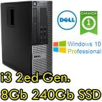 PC Dell Optiplex 790 SFF Core i3-2100 3.1GHz 8Gb 240Gb SSD DVDRW Windows 10 Professional