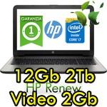 Notebook HP 15-ay050nl Core i7-6500U 12Gb 1Tb 15.6' HD BV LED AMD Radeon R7 M440 2GB Windows 10 HOME