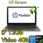 Notebook HP Pavilion 15-au116nl Core i7-7500U 12Gb 1Tb+128Gb SSD 15.6' FHD Windows 10 HOME Gold
