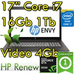 Notebook HP ENVY 17-r102nl Core i7-6700HQ 16Gb Ram 1Tb+128Gb SSD 17.3' FHD GeForce 950M 4GB Windows 10 HOME