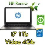 Notebook HP 15-ay051nl Core i7-6500U 16Gb 1Tb 15.6' HD BV LED AMD Radeon R7 M440 4GB Windows 10 HOME