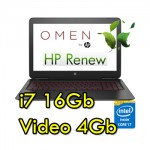 Notebook HP OMEN 15-ax207nl Core i7-7700HQ 16Gb 1Tb 15.6' FHD NVIDIA GeForce GT1050 4GB Windows 10 HOME