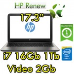 Notebook HP 17-x002nl Core i7-6500U 16Gb 1TB 17.3' LED HD AMD Radeon R5 M1-30 2GB Windows 10 HOME
