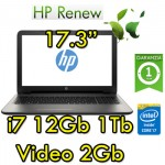 Notebook HP 17-x005nl Core i7-6500U 16Gb 1TB 17.3' LED HD AMD Radeon R5 M1-30 2GB Windows 10 HOME