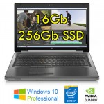 Workstation HP EliteBook 8570w Core i7-3740QM 16Gb 256Gb SSD 15.6' QUADRO K2000 2Gb Windows 10 Professional