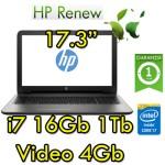Notebook HP 17-x103nl Core i7-7500U 16Gb 1TB 17.3' LED HD AMD Radeon R7 M440 4GB Windows 10 HOME