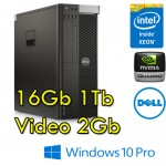 Workstation Dell Precision T5610 Xeon E5-2620 2.1GHz 16Gb 1Tb DVD QUADRO K2000 Windows 10 Professional