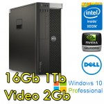 Workstation Dell Precision T5600 Xeon E5-2620 2.1GHz 16Gb 1Tb DVD QUADRO 4000 Windows 10 Professional