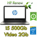 Notebook HP 15-ay100nl Core i5-7200U 4Gb 500Gb 15.6' HD BV LED AMD Radeon R5 M430 2GB Windows 10 HOME