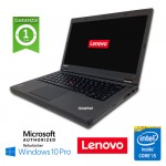 Notebook Lenovo Thinkpad T440p Core i5-4300M 2.6GHz 8Gb 500Gb 14.1' WEBCAM Windows 10 Professional