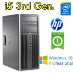 PC HP Compaq 6300 Elite Core i5-3470 3.2GHz 4Gb Ram 500Gb DVD Windows 10 Professional Tower