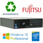 PC Fujitsu Esprimo E700 Intel G-530 2.4GHZ 4Gb Ram 250Gb DVD DVI SERIALE PARALLELA Windows 10 Professional