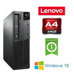 PC Lenovo Thinkcentre M78 AMD A4-5300B 3.4GHz 4Gb Ram 500Gb DVD-RW Windows 10 HOME