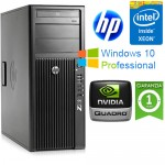 Workstation HP Z220 CMT Xeon  E3-1270 V2 3.4GHz 8Gb 500Gb NVIDIA QUADRO 2000 1Gb Windows 10 Professional
