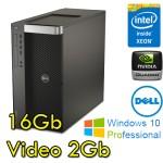 Workstation Dell Precision T1700 Xeon Quad Core E3-1241 3.5GHz 16Gb 500Gb DVD Quadro K620 2Gb Windows 10 Pro