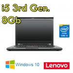 Notebook Lenovo Thinkpad T430 Core i5-3320M 8Gb 320Gb 14' WEBCAM DVDRW Windows 10 HOME