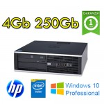 PC HP Compaq 8100 Elite Pentium G6950 2.8GHz 4Gb Ram 250Gb DVD Windows 10 Professional SFF