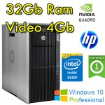 Workstation HP Z820 Xeon E5-2690 v2 3.0GHz 25Mb Cache 32Gb RAM 300Gb NVIDIA QUADRO K5000 4Gb Windows 10 Pro