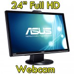 Monitor LCD 24 Pollici Asus VK248H Full HD LED 1920x1080 USB Black