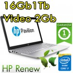 Notebook HP Pavilion 15-cc005nl i7-7500U 16Gb 1Tb NVIDIA GeForce 940MX 2Gb 15.6' BV LED Windows 10 HOME