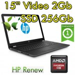 Notebook HP 15-bw025nl AMD A12-9720P 2.7GHz 12Gb 256Gb SSD 15.6' AMD Radeon 530  Windows 10 HOME