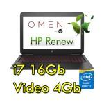 Notebook HP OMEN 15-ax214nl Core i7-7700HQ 16Gb 1Tb+128SSD 15.6' FHD NVIDIA GeForce GT1050 4GB Windows 10 HOME