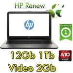 Notebook HP 15-bw021nl AMD A10-9620P 12Gb 1Tb 15.6' HD AMD Radeon 530 2GB Windows 10 HOME
