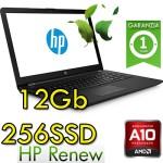 Notebook HP 15-bw046nl AMD A10-9620P 2.5GHz 12Gb 256Gb SSD 15.6' HD AMD Radeon 530 2GB Windows 10 HOME