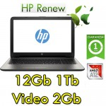 Notebook HP 15-bw024nl AMD A12-9720P 12Gb 1Tb 15.6' HD AMD Radeon 530 2GB Windows 10 HOME