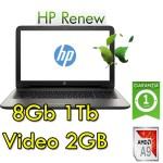 Notebook HP 15-bw044nl AMD A9-9420P 3.0GHz 8Gb 1Tb 15.6' HD AMD Radeon 520 2GB Windows 10 HOME