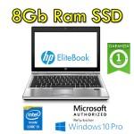 Notebook HP EliteBook 2570p Core i3-3120M 2.5GHz 8Gb 128Gb SSD 12.5' HD WEBCAM Windows 10 Professional
