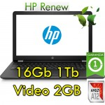 Notebook HP 15-bw017nl AMD A12-9720P 16Gb 1Tb 15.6' HD AMD Radeon 530 2GB Windows 10 Home