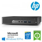 UtraSlim PC HP EliteDesk 800 G1 DM Core i5-4590T 3.0GHz 8Gb Ram 320Gb noODD Windows 10 Professional