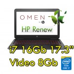 Notebook HP OMEN 17-w204nl Core i7-7700HQ 16Gb 1Tb+256Gb SSD 17.3' FHD NVIDIA GeForce GT1070 8GB Windows 10