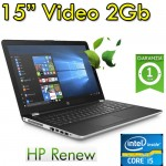Notebook HP 15-bs036nl i5-7200U 8Gb 1Tb 15.6' HD LED DVD Webcam Windows 10 Home