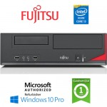 PC Fujitsu Esprimo E520 E85+ Core i3-4130 4Gb Ram 250Gb noODD Windows 10 Professionl